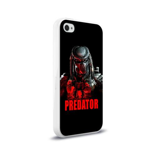Чехол для Apple iPhone 4/4S силиконовый глянцевый  Фото 02, Predator