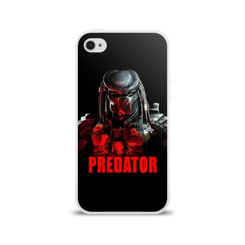 Чехол для Apple iPhone 4/4S силиконовый глянцевый  Фото 01, Predator