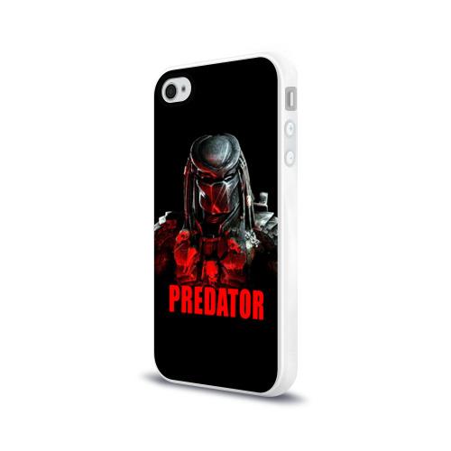 Чехол для Apple iPhone 4/4S силиконовый глянцевый  Фото 03, Predator