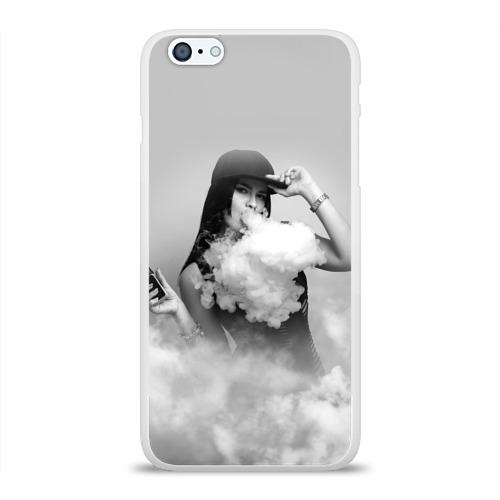Чехол для Apple iPhone 6Plus/6SPlus силиконовый глянцевый  Фото 01, Vape girl