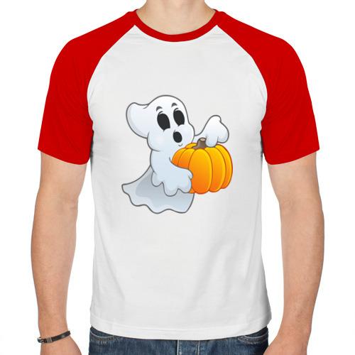Мужская футболка реглан  Фото 01, Призрак