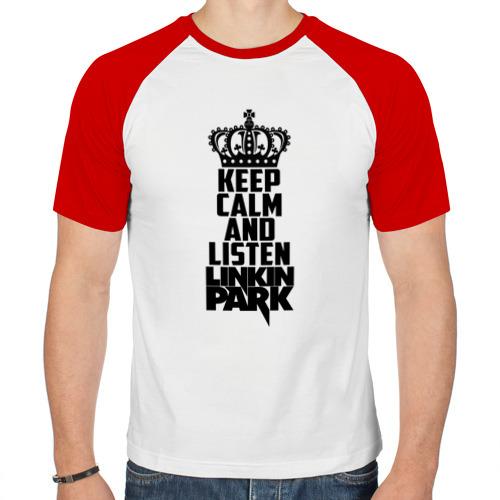 Мужская футболка реглан  Фото 01, Keep calm and listen LP