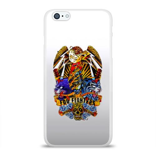 Чехол для Apple iPhone 6Plus/6SPlus силиконовый глянцевый  Фото 01, Foo Fighters, орел и тигры