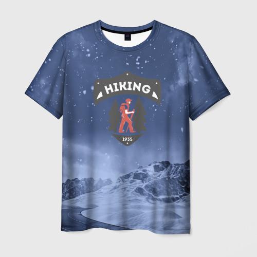Мужская футболка 3D Пеший турист