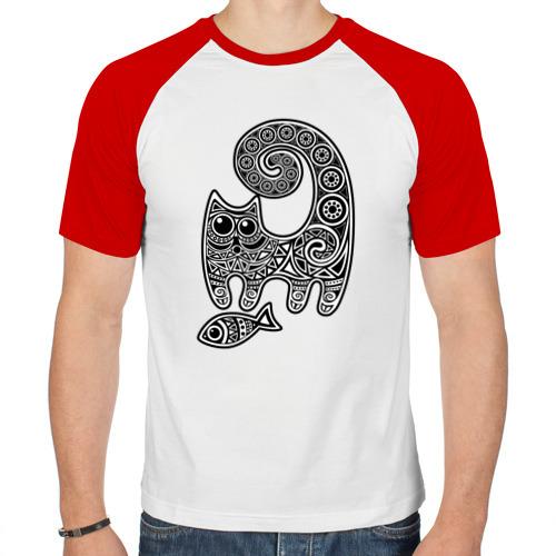 Мужская футболка реглан  Фото 01, Кот3