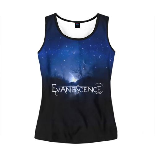 Женская майка 3D Evanescence звездное небо