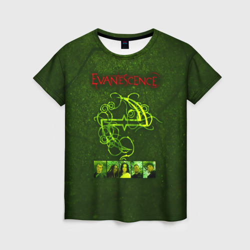 Женская футболка 3D Группа Evanescence Фото 01