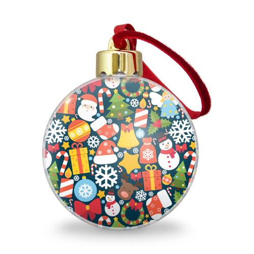 Ёлочный шар с блестками  Фото 01, Новогодний набор