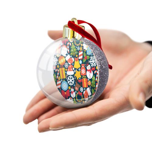Ёлочный шар с блестками  Фото 03, Новогодний набор