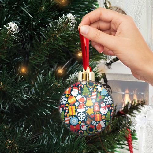 Ёлочный шар с блестками  Фото 04, Новогодний набор