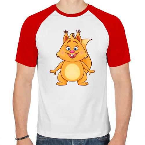 Мужская футболка реглан  Фото 01, Веселая белка