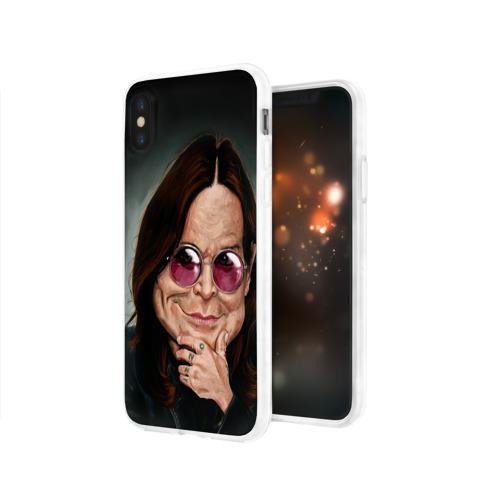 Чехол для Apple iPhone X силиконовый глянцевый  Фото 03, Оззи Осборн