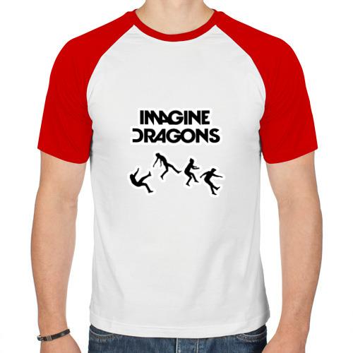 Мужская футболка реглан  Фото 01, Imagine Dragons, прыжок