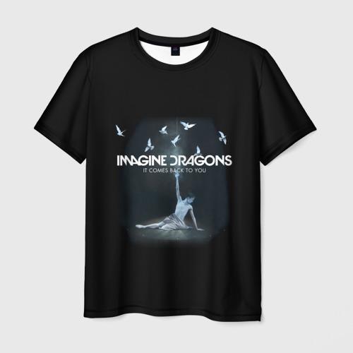 Мужская футболка 3D Imagine, Dragons, девушка