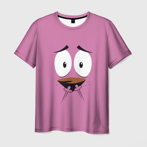 Мужская футболка 3D  Фото 03, Трусливый пёс