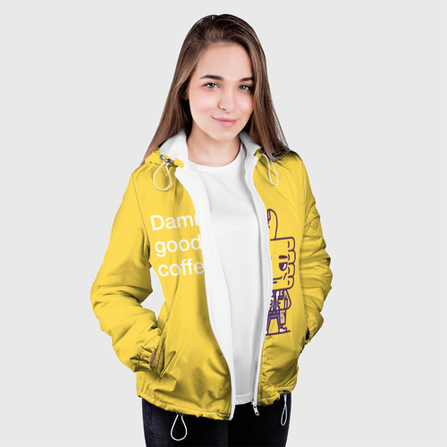 Женская куртка 3D  Фото 04, Чертовски хороший кофе