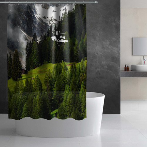 Штора 3D для ванной  Фото 02, Я из Сибири
