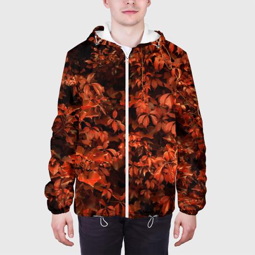 Мужская куртка 3D  Фото 04, осенние листья