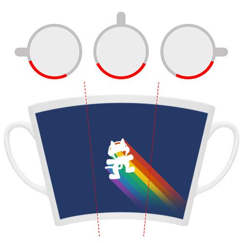 Кружка Латте  Фото 06, Rainbow cat