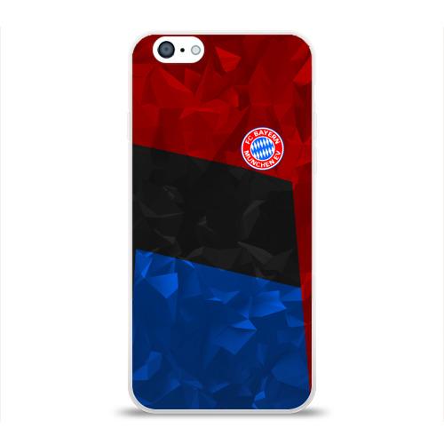 Чехол для Apple iPhone 6 силиконовый глянцевый  Фото 01, FC Bayern 2018 Abstract colors