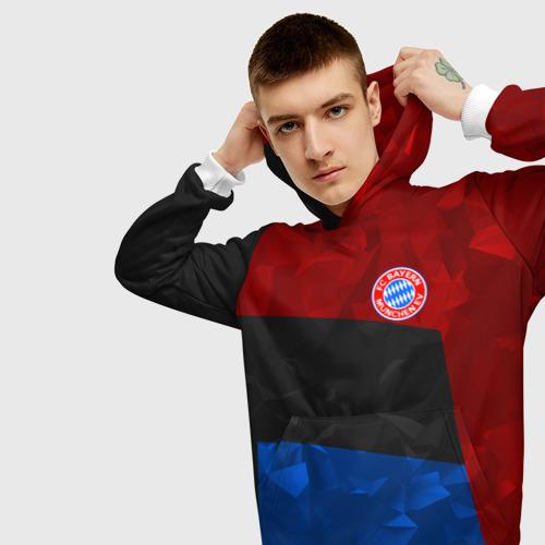 Мужская толстовка 3D  Фото 01, FC Bayern 2018 Abstract colors
