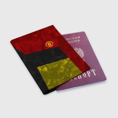 Обложка для паспорта матовая кожа  Фото 03, Manchester United 2018