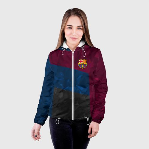 Женская куртка 3D FC Barcelona 2018 Abstract Фото 01