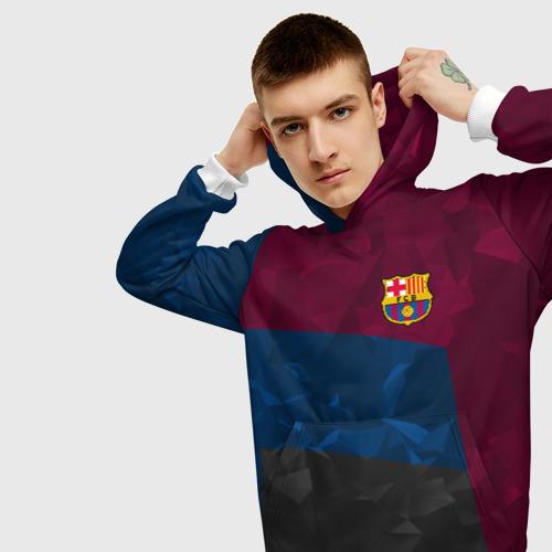 Мужская толстовка 3D  Фото 01, FC Barcelona 2018 Abstract