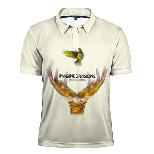 Мужская рубашка поло 3D  Фото 01, Руки с птичкой Imagine Dragons