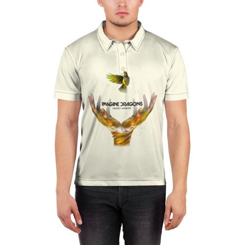 Мужская рубашка поло 3D  Фото 03, Руки с птичкой Imagine Dragons