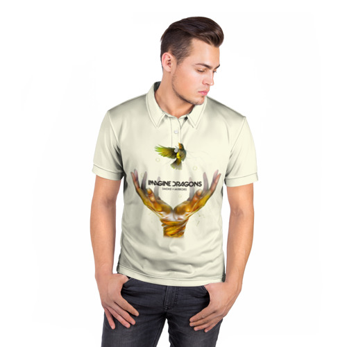 Мужская рубашка поло 3D  Фото 05, Руки с птичкой Imagine Dragons