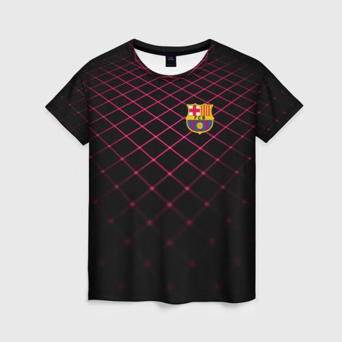 Женская футболка 3D FC Barcelona 2018 Line