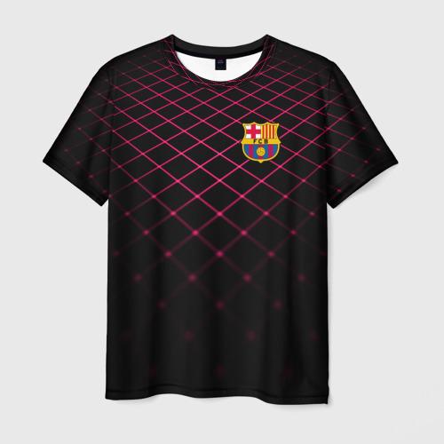 Мужская футболка 3D FC Barcelona 2018 Line