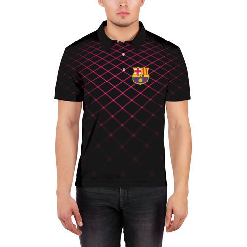 Мужская рубашка поло 3D  Фото 03, FC Barcelona 2018 Line