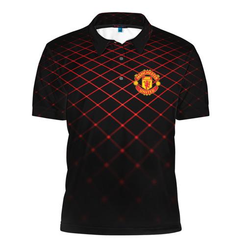 Мужская рубашка поло 3D Manchester United 2018 Line