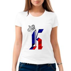 Буква К в короне, на флаге РФ
