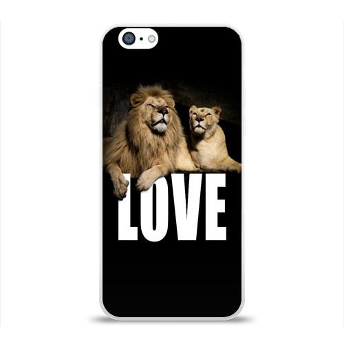 Чехол для Apple iPhone 6 силиконовый глянцевый  Фото 01, LOVE