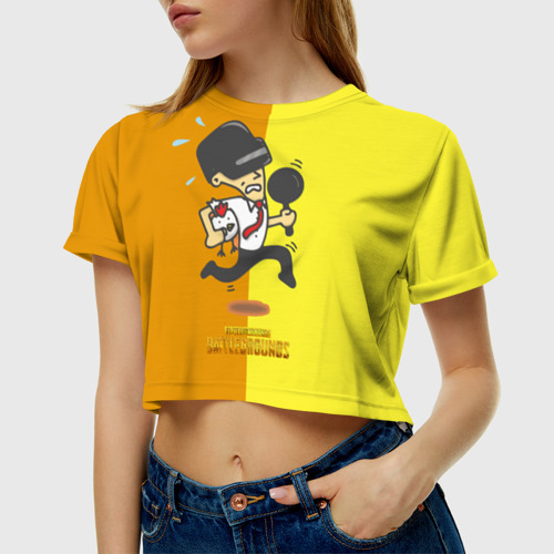 Женская футболка Crop-top 3D PUBG Фото 01