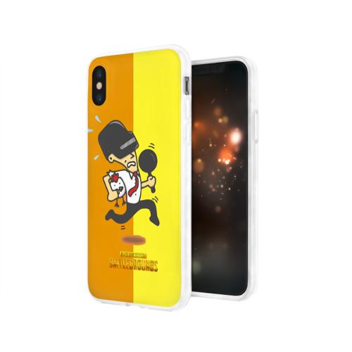 Чехол для Apple iPhone X силиконовый глянцевый  Фото 03, PUBG