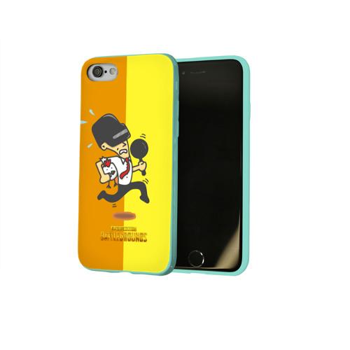 Чехол для Apple iPhone 8 силиконовый глянцевый PUBG Фото 01