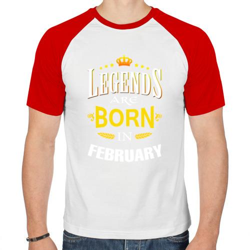 Мужская футболка реглан  Фото 01, Legends are born in february