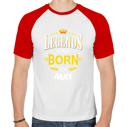 Мужская футболка реглан  Фото 01, Legends are born in may