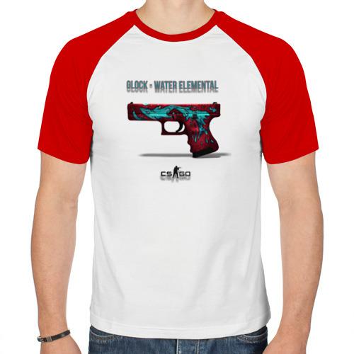 Мужская футболка реглан  Фото 01, Glock - Water Elemental