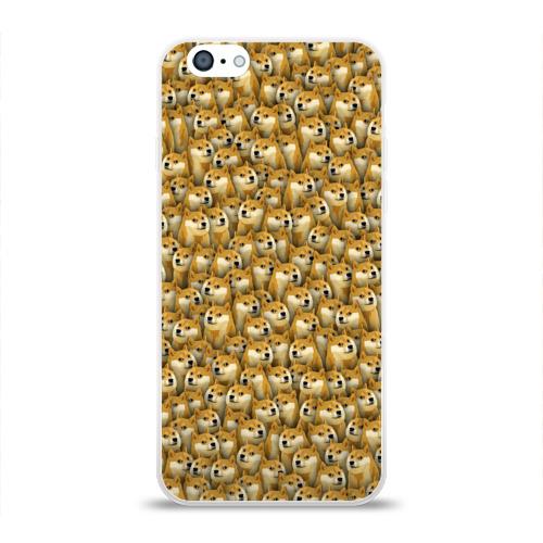 Чехол для Apple iPhone 6 силиконовый глянцевый  Фото 01, Собачки Doge