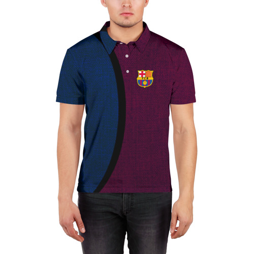 Мужская рубашка поло 3D  Фото 03, FC Barcelona 2018 Original