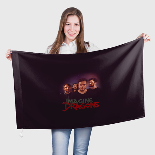 Флаг 3D  Фото 01, Группа Imagine Dragons