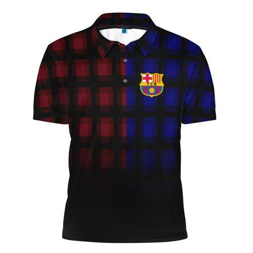 Мужская рубашка поло 3D  Фото 01, FC Barcelona 2018