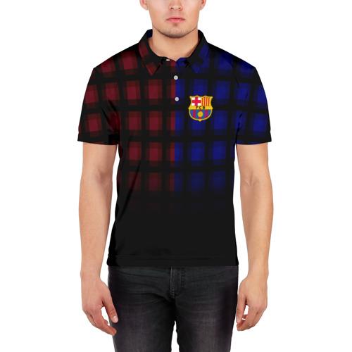 Мужская рубашка поло 3D  Фото 03, FC Barcelona 2018