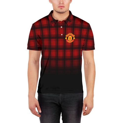 Мужская рубашка поло 3D  Фото 03, Manchester United 2018