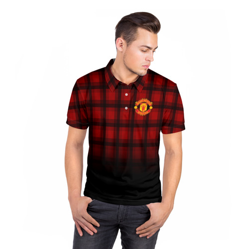 Мужская рубашка поло 3D  Фото 05, Manchester United 2018